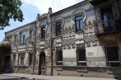 Annorlunda arkitektur i historiska Tbilisi.