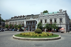 Art Nouveau-arkitektur längs David Aghmashenebeli-avenyn, Tbilisi.