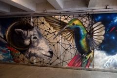 Graffiti i gångtunnel, Tbilisi.