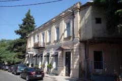 Arkitekturen längs Mikheil Zandukeli street, Tbilisi.