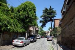 Gatuscen  längs Mikheil Zandukeli street, Tbilisi.