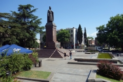 Shota Rustaveli-statyn, Tbilisi.