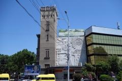Arkitekturen längs Aleksandr Pushkin-Nikoloz Baratashvili Streets, Tbilisi.