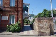 Arkitekturen längs Nikoloz Baratashvili Streets, Tbilisi.