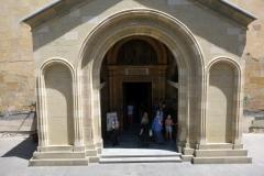 Entrén till Sioni Cathedral, Tbilisi.