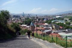 Halvvägs upp till Narikala Fortress längs Orbiri Street, Tbilisi.