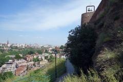 Leden vid Narikala Fortress, Tbilisi.
