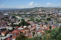 Utsikten över centrala Tbilisi från Narikala Fortress.