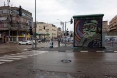 Gatuscen i centrala Tel Aviv.