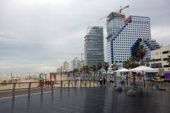 Stranden i centrala Tel Aviv.