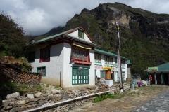 Ama Dablam Lodge and Restaurant längs EBC-trekken mellan Namche Bazaar och Tengboche.