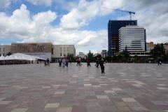 Hela torget är fantastiskt efter ombyggnationen som skett sedan jag var här förra gången, Skanderbeg Square, Tirana.
