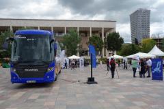 EU-utställning , Skanderbeg Square, Tirana.