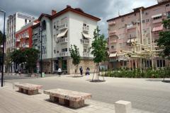 Konstverket Zani i centrala Tirana.