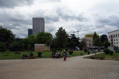 Den lilla parken jag inte hittat något namn på som ligger mitt i  centrum av Tirana.