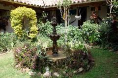 Innergården på Hostal Renacer, Villa de Leyva.