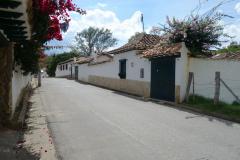 Gatuscen i centrala Villa de Leyva.