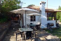 Dags för frukost på Hostal Renacer, Villa de Leyva.