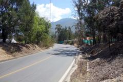 Cykling några kilometer utanför Villa de Leyva.