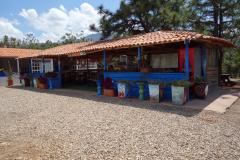 Restaurangen vid entrén till Pozos Azules, Villa de Leyva.