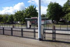 Hållplatsen i Zaspa där jag beslöt mig för att gå av spårvagnen, Gdańsk.