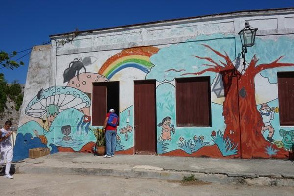 Grafitti på del av Fortaleza de San Carlos de la Cabana, Havanna.