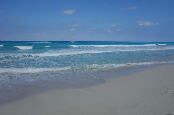 Stranden i Varadero. Det verkar inte spela så stor roll var längs stranden man bor, då den är lika fin överallt.