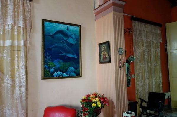Inredningen på casa particular Los Vitrales – Emma Barretto & Rafael Requejo, Camagüey.