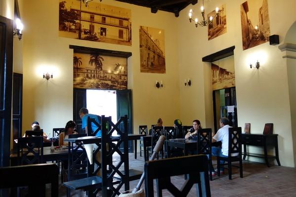 Café Ciudad vid Parque Ignacio Agramonte, centrala Camagüey.