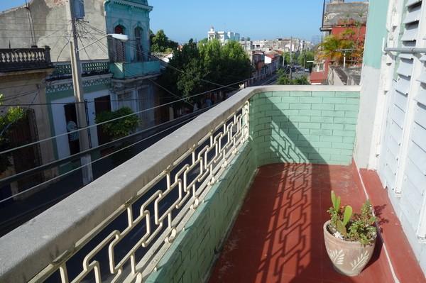 Balkongen på Olga & Eugenio casa particular, Cienfuegos.
