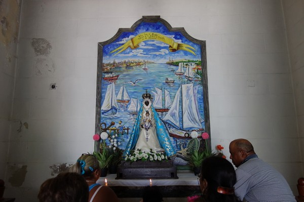 Den svarta madonnan La Santisima Virgen de Regla, Iglesia de Nuestra Senora de Regla, Regla, Havanna.