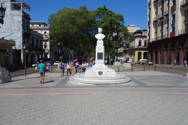 Södra änden av Prado (Paseo de Marti), Centro Habana, Havanna.