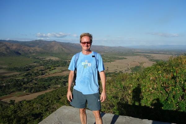 Stefan uppe på berget Cerro de la Vigia, Trinidad.