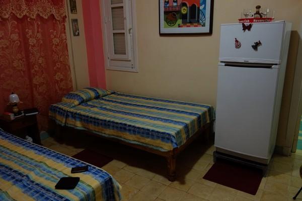 La Zarzamora, sovrummet i lägenheten jag hyrt i nio nätter, Havanna.