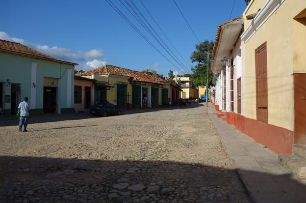 Gamla koloniala gator i centrala Trinidad.
