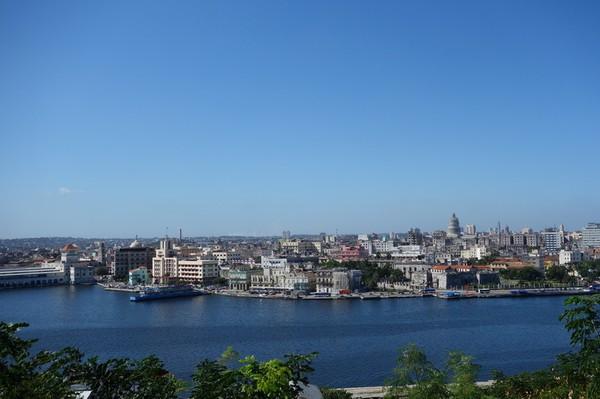 Utsikt över Havanna från utsiktsplatsen vid Estatua de Cristo.