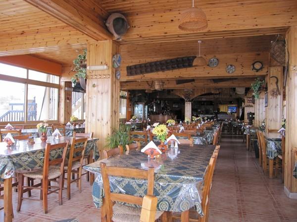 Lunch på Kyparissos Tavern längs E709 på väg upp mot Polis.