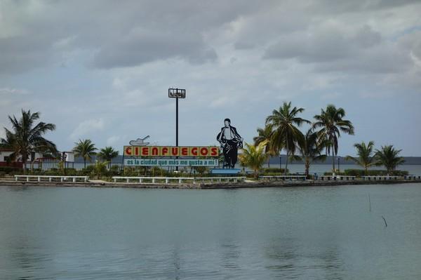 Utsikt över Bahia de Cienfuegos från Malecon, Cienfuegos.