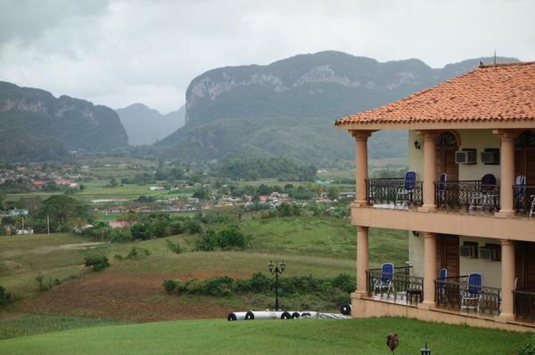 Utsikt från hotell La Ermita, Viñales.