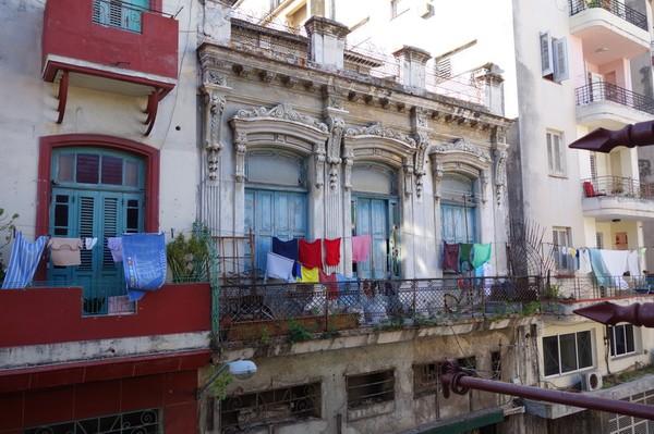 La Zarzamora, utsikten från balkongen till lägenheten jag hyrt i nio nätter, Havanna.