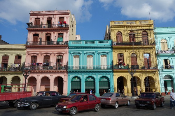 Otroligt fin arkitektur mittemot Capitolio Nacional, Centro Habana, Havanna.