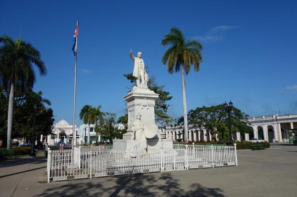 Marmorstay av José Martí i Parque José Martí, Cienfuegos.