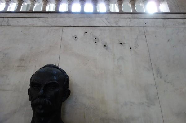 Kulhål i väggen, Museo de la Revolución, Habana Vieja, Havanna.