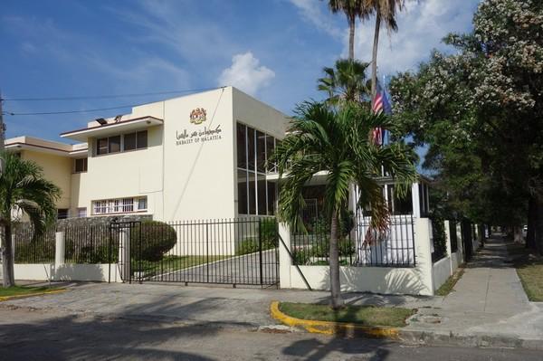 Malaysiska ambassaden längs Av 5, Miramar, Havanna.