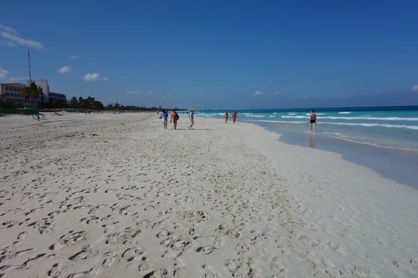 Varaderos vackra strand, östra Varadero.