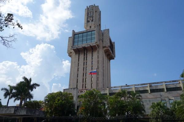Ryska ambassaden längs Av 5, Miramar, Havanna.