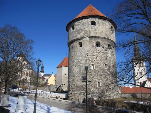 Kiek in de kök, kanske det finaste kanontornet i Tallinn, gamla staden, Tallinn.
