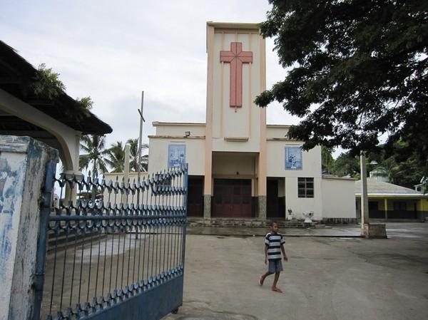 Katolska kyrkan i Baucau old town, Timor-Leste.