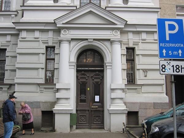 Entrén till The Museum Of Genocide Victims, Vilnius.