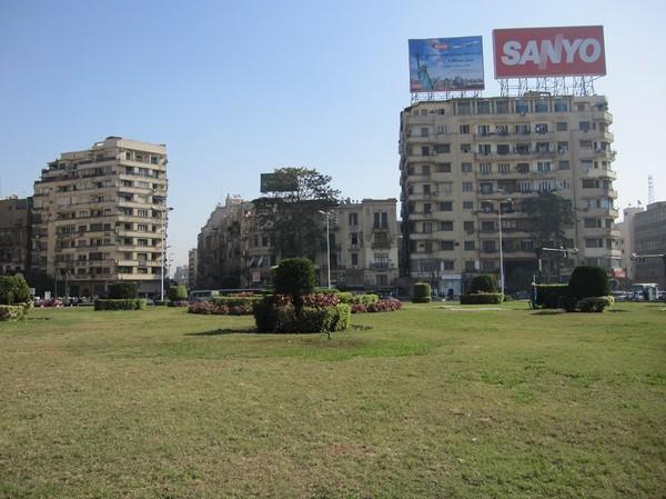 Tahrirtorget (Befrielsetorget), centrala Kairo.